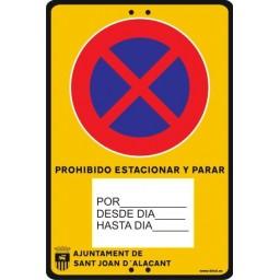 SEÑAL PORTATIL PROVISIONAL DE TRAFICO PERSONALIZADA