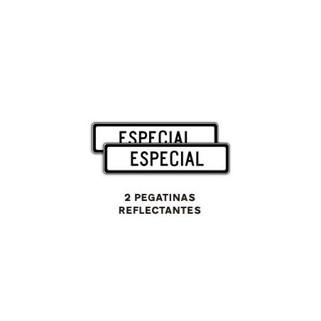 PEGATINA SEÑAL V-21 ACOMPAÑAMIENTO ESPECIAL