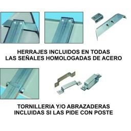 HERRAJES SEÑAL HOMOLOGADA DE TRAFICO