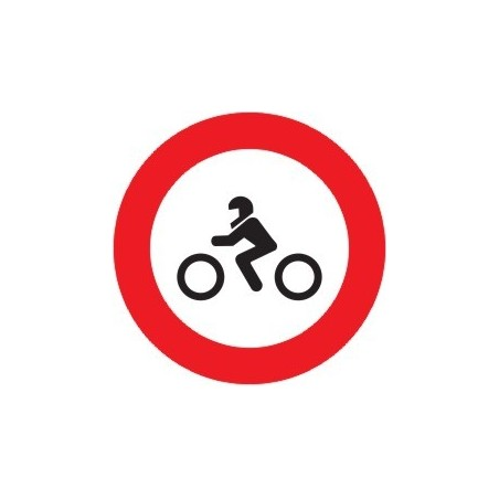 SEÑAL PROHIBIDO MOTOCICLETAS