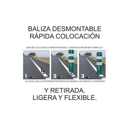 BALIZA H-75 DESMONTABLE FLEXIBLE
