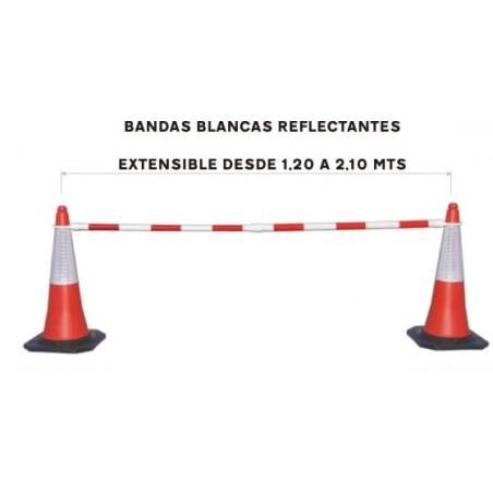 BARRERA EXTENSIBLE ROJA BLANCA