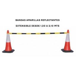BARRERA EXTENSIBLE AMARILLA NEGRA