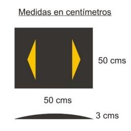 Banda reductora de velocidad 50X50X3 CMS