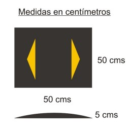 Banda reductora de velocidad  50X50X5 CMS