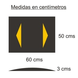 Banda reductora de velocidad 60X50X3 CMS