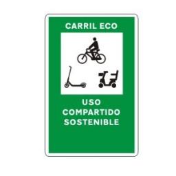 SEÑAL CARRIL ECO SOSTENIBLE