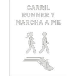 PLANTILLA CARRIL RUNNER A PIE