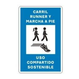 SEÑAL CARRIL RUNNING MARCHA A PIE