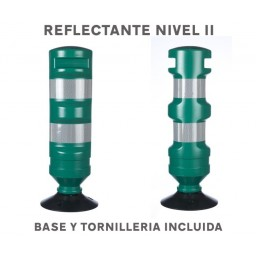 BALIZA FLEXIBLE REEMPLAZABLE CON BASE COLORES