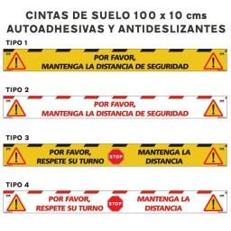 CINTA DE SUELO DISTANCIA DE SEGURIDAD