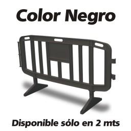valla plastico negro