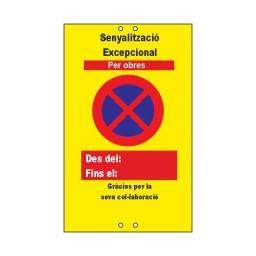 SEÑALIZACIÓN EXCEPCIONAL PARA OBRAS EN CATALÁN