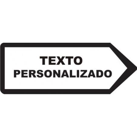 SEÑAL FLECHA DE ORIENTACION