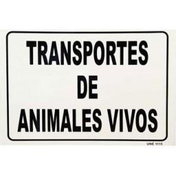 SEÑAL TRANSPORTE DE ANIMALES VIVOS
